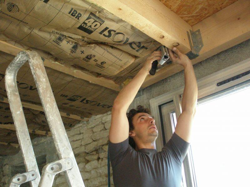 Notre r novation pas pas articles for Pose fibre de verre au plafond